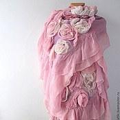 Аксессуары ручной работы. Ярмарка Мастеров - ручная работа Палантин - Розовые  розы. Handmade.