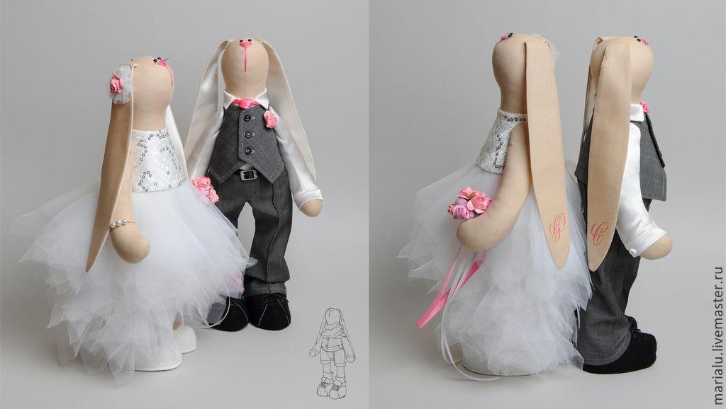 Свадебные кролики Тильда