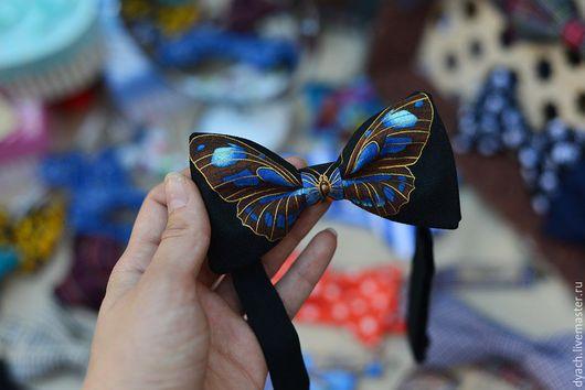 Галстуки, бабочки ручной работы. Ярмарка Мастеров - ручная работа. Купить Галстук-бабочка Бабочка. Handmade. Рисунок, бабочка, галстук