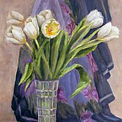Pictures handmade. Livemaster - original item Oil painting. Mother`s day. Still life with flowers.. Handmade.
