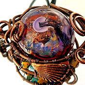 Украшения handmade. Livemaster - original item Lampwork pendant, the Gift of Aphrodite. Handmade.