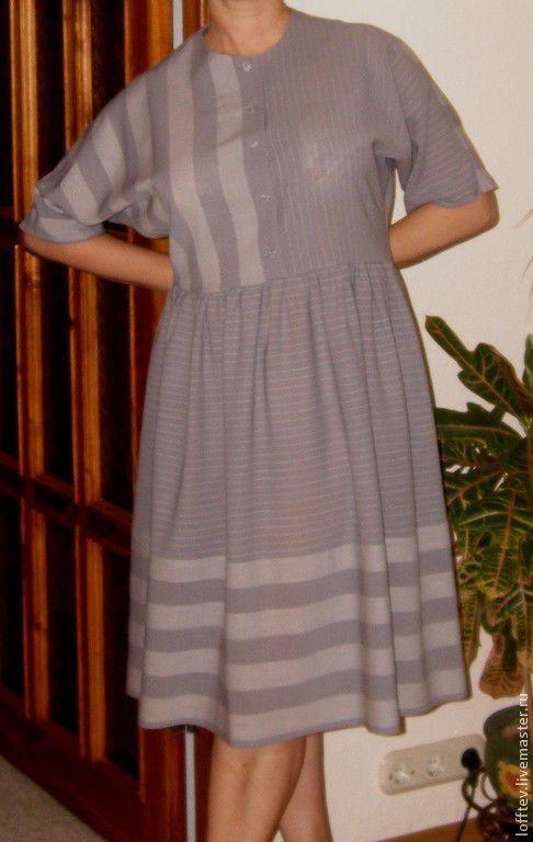 Платья ручной работы. Ярмарка Мастеров - ручная работа. Купить Платье бохо шерстяное. Handmade. Серый, шерсть 100%