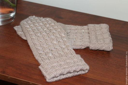 """Варежки, митенки, перчатки ручной работы. Ярмарка Мастеров - ручная работа. Купить Варежки, митенки, перчатки """"Ледяные слезки"""". Handmade."""