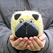 Куклы и игрушки ручной работы. Ярмарка Мастеров - ручная работа Мопс (игрушка из шерсти). Handmade.