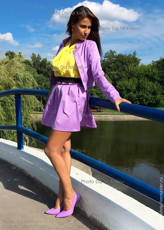 Юбка блузка и пиджак