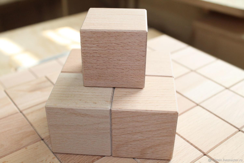 Кубики 4.5см буковые с фаской, Кубики и книжки, Екатеринбург,  Фото №1