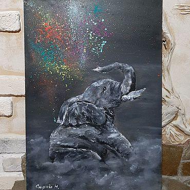 Картины и панно ручной работы. Ярмарка Мастеров - ручная работа Картина масло/холст Эмоции. Handmade.