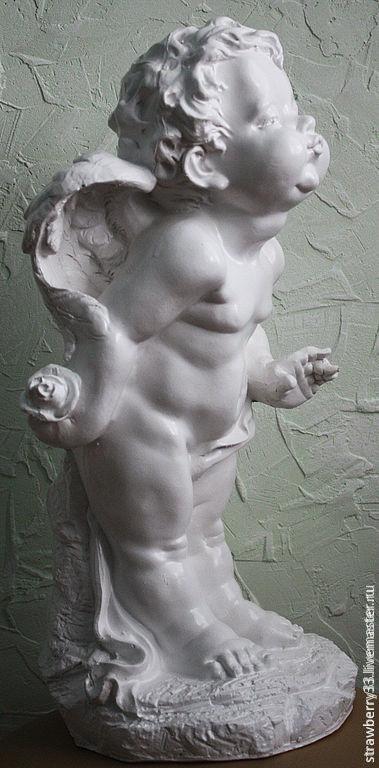"""Статуэтки ручной работы. Ярмарка Мастеров - ручная работа. Купить Гипсовый ангел """"1"""". Handmade. Золотой, ангелочки, статуэтки"""