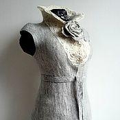 """Одежда ручной работы. Ярмарка Мастеров - ручная работа Эко-жилет """"Vintage silver"""", валяный. Handmade."""