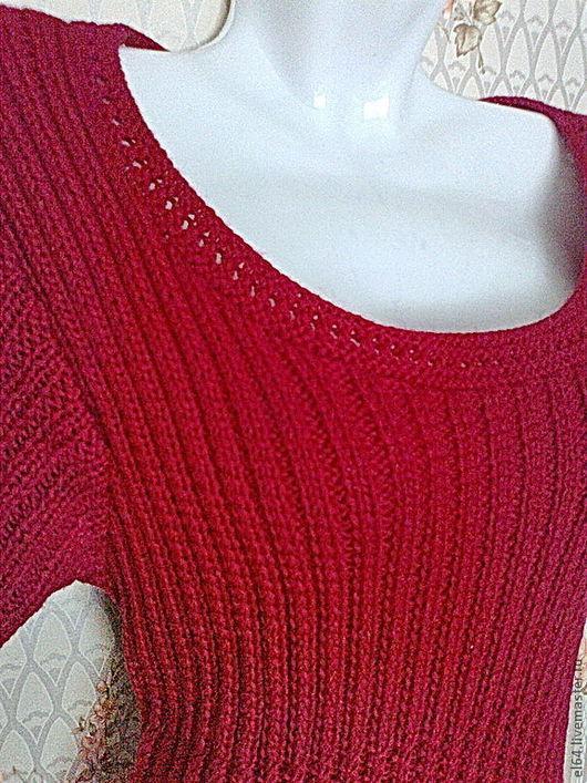"""Платья ручной работы. Ярмарка Мастеров - ручная работа. Купить Платье """"Городской стиль"""". Handmade. Ярко-красный, платье спицами"""