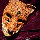 """Интерьерные  маски ручной работы. """"Кицунэ. Волшебная лиса."""" Тематическая маска.. Рука Солнца   *авторские маски*. Ярмарка Мастеров."""