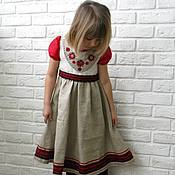 Работы для детей, ручной работы. Ярмарка Мастеров - ручная работа Летнее платье для девочки  Катерина. Handmade.