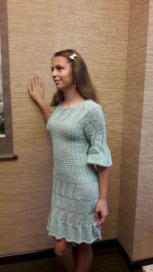 Платья ручной работы. Ярмарка Мастеров - ручная работа. Купить Летнее платье. Handmade. Голубой, ажурный узор