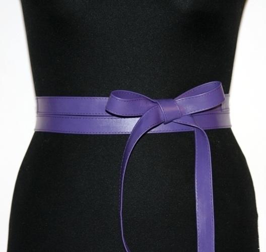 """Пояса, ремни ручной работы. Кожаный пояс-лента """"Sash Violet"""". Кожаные пояса и браслеты Lanita Design. Ярмарка Мастеров."""