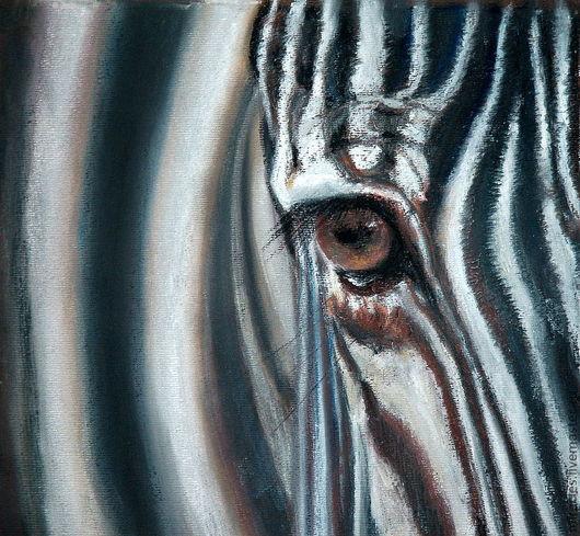 """Животные ручной работы. Ярмарка Мастеров - ручная работа. Купить Картина пастелью """"Взгляд"""". Handmade. Чёрно-белый, эксклюзивный подарок"""