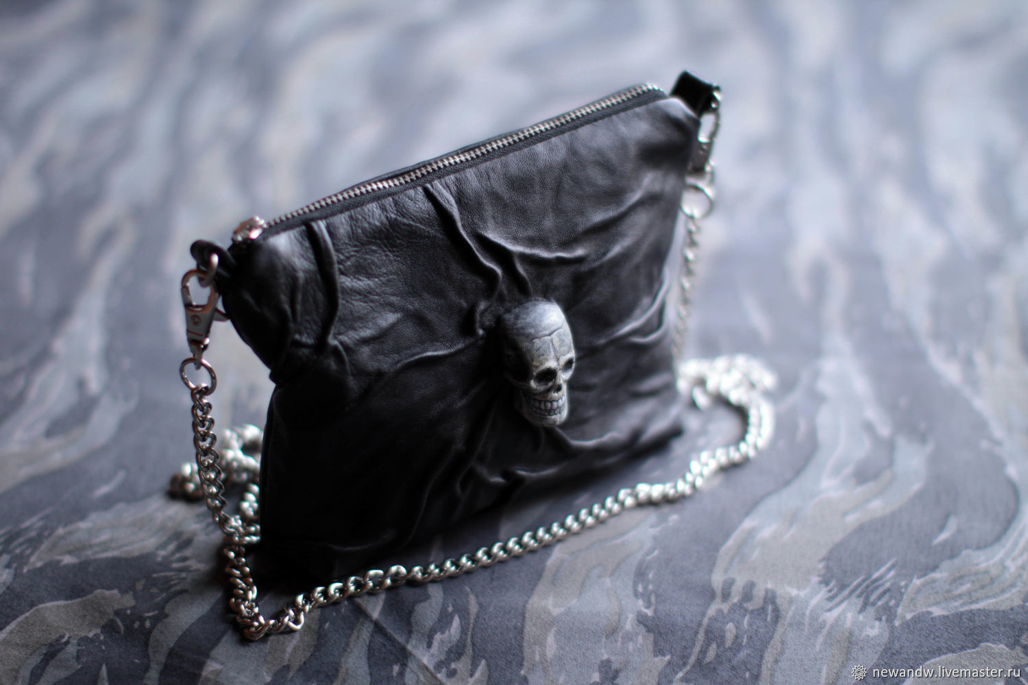 3D 'Halloween' Purse on a chain made of genuine leather, Classic Bag, Moscow,  Фото №1