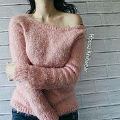 Одежда ручной работы. Ярмарка Мастеров - ручная работа Пушистый свитер,женский свитер,вязаный свитер. Handmade.