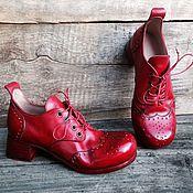 Обувь ручной работы. Ярмарка Мастеров - ручная работа Кожаные полуботинки ФЛАМЕНКО. Handmade.