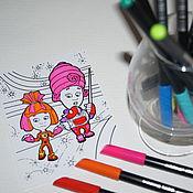 Сувениры и подарки ручной работы. Ярмарка Мастеров - ручная работа Магнитные раскраски с мульт-персонажами. Handmade.
