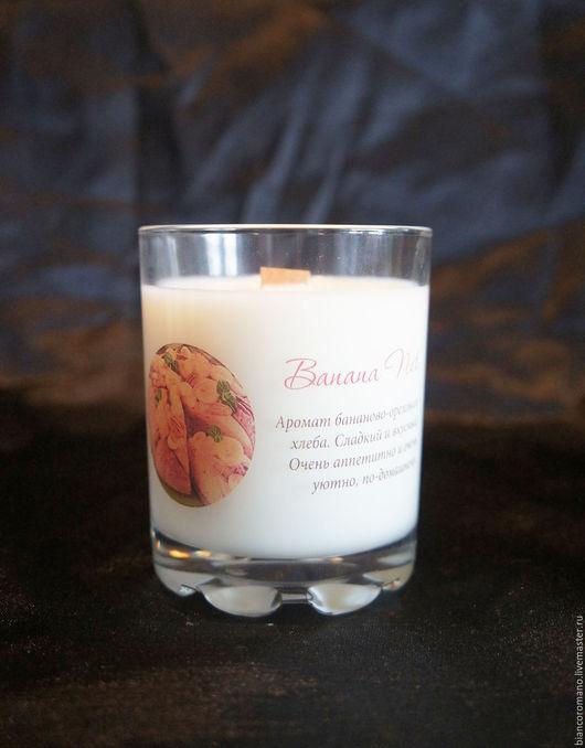 Арома свеча соевый воск `Bianco Romano` Аромат `Banana Nut`