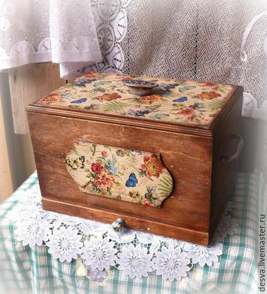 """Кухня ручной работы. Ярмарка Мастеров - ручная работа. Купить деревянная хлебница """"Летние сказки"""". Handmade. Хлебница, для кухни"""