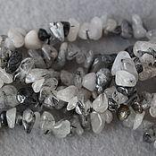 Материалы для творчества handmade. Livemaster - original item Quartz-hair stone, stone chippings, strands 20 cm (natural stone). Handmade.