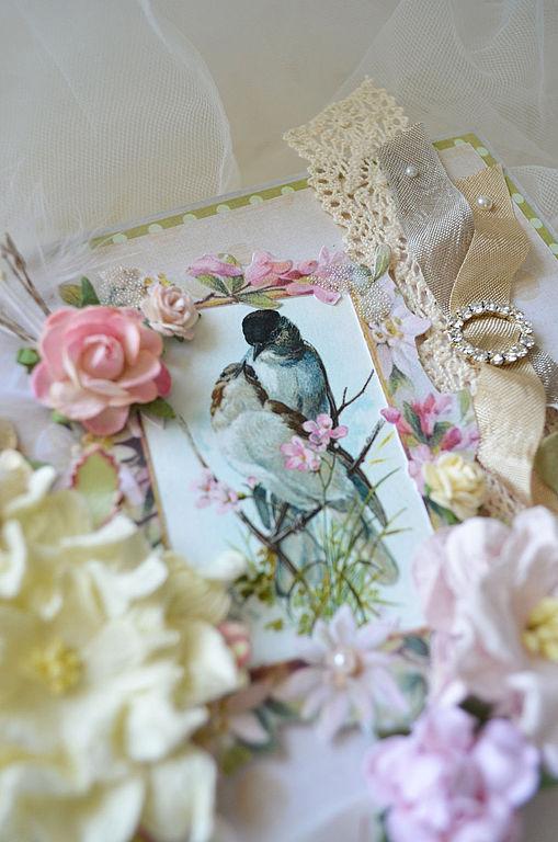 Открытки на день рождения ручной работы. Ярмарка Мастеров - ручная работа. Купить открытка «Весна пришла 1». Handmade. Весна