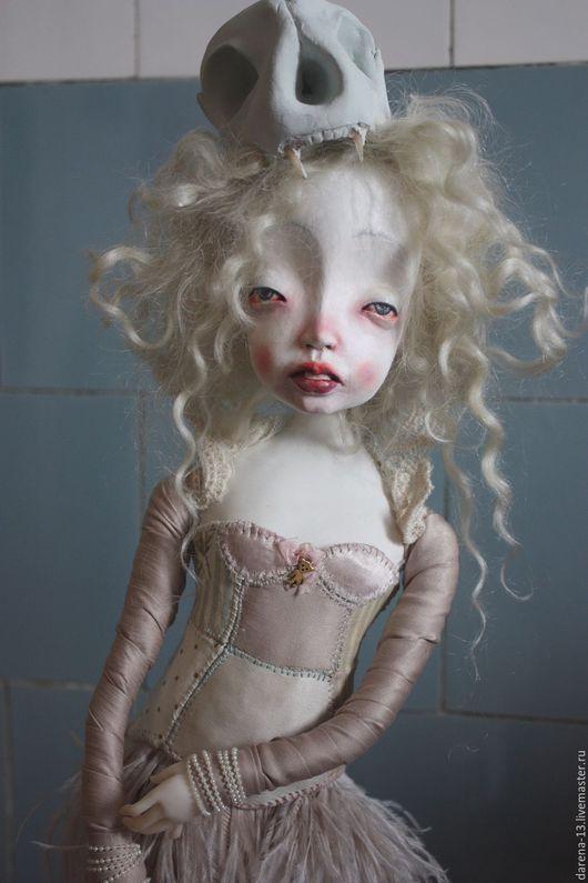 Коллекционные куклы ручной работы. Ярмарка Мастеров - ручная работа. Купить Красная Шапочка. Handmade. Бледно-сиреневый, Паперклей