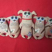 Куклы и игрушки ручной работы. Ярмарка Мастеров - ручная работа Кофейные собачки-позитивчики. Handmade.