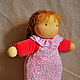 Вальдорфская игрушка ручной работы. Вальдорфская кукла в пришивной одежке  26-28см. Alla  (Waldorf doll&toy). Ярмарка Мастеров.