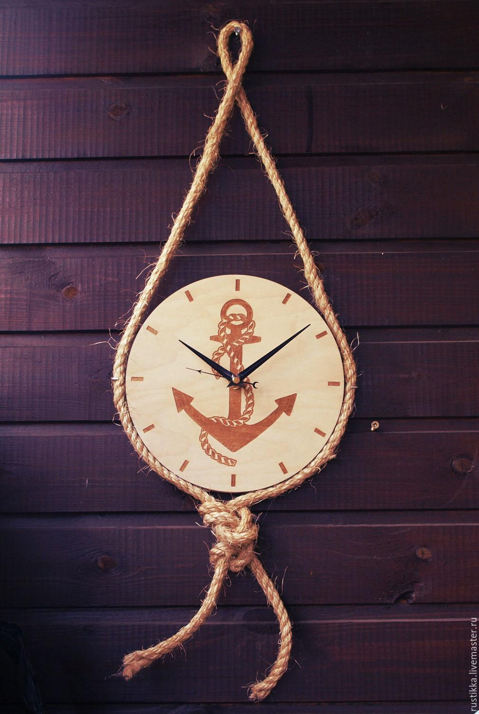 """Часы настенные """"Морской узел"""", Часы для дома, Санкт-Петербург, Фото №1"""