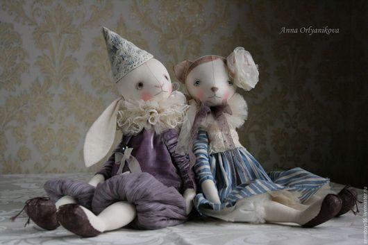Коллекционные куклы ручной работы. Ярмарка Мастеров - ручная работа. Купить Луи и Пенелопа. Handmade. Сиреневый, коллекционная игрушка, хлопок