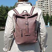 Сумки и аксессуары handmade. Livemaster - original item Backpack ladies purple leather Ty Fashion SR34-191. Handmade.