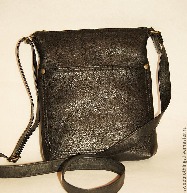 bfeba3ca460c Сумки и аксессуары ручной работы. Заказать Небольшая мужская сумка.  SweetNothings. Кожаные сумки.