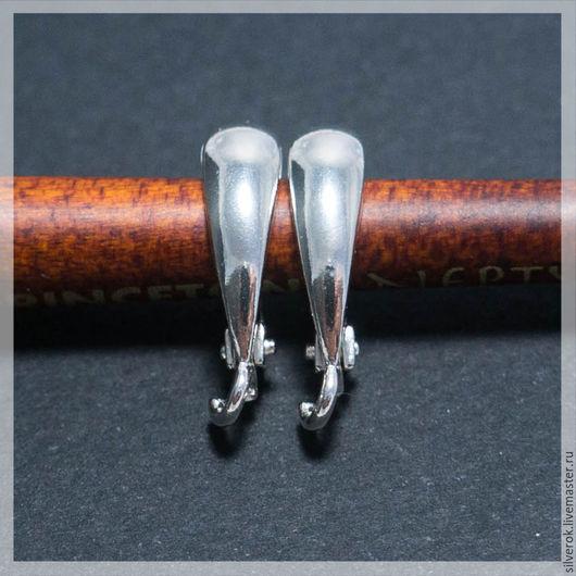 Для украшений ручной работы. Ярмарка Мастеров - ручная работа. Купить Швензы верхушки капля серебряные 925 пробы. Handmade.