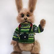 Куклы и игрушки ручной работы. Ярмарка Мастеров - ручная работа Игрушка вязаная Кролик-турист Бета Каротин. Handmade.