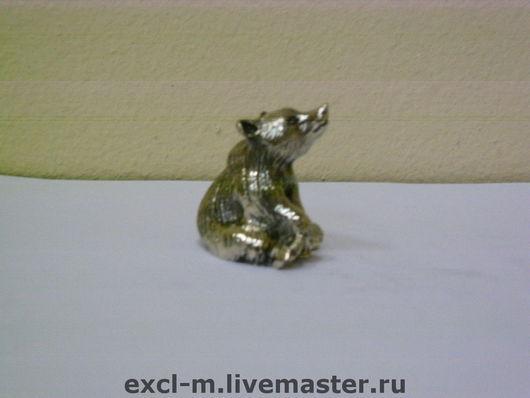 """Миниатюра ручной работы. Ярмарка Мастеров - ручная работа. Купить Статуэтка """"Медвежонок"""". Handmade. Медведь, статуэтка, латунь, латунь патинированная"""