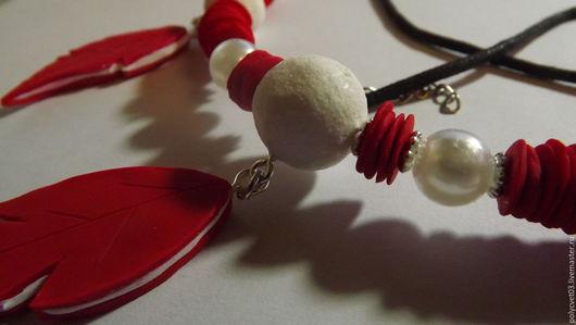 """Кулоны, подвески ручной работы. Ярмарка Мастеров - ручная работа. Купить Колье """"Три пера"""". Handmade. Комбинированный"""