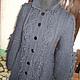 Верхняя одежда ручной работы. Ярмарка Мастеров - ручная работа. Купить Пальто с аранами. Handmade. Темно-серый