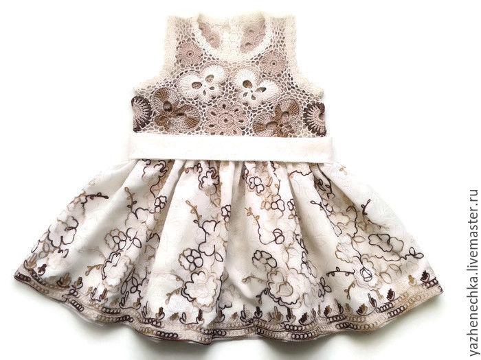 3efcef89d101 Clothes for Girls handmade. Livemaster - handmade. Buy Cotton dress for  little girl White ...
