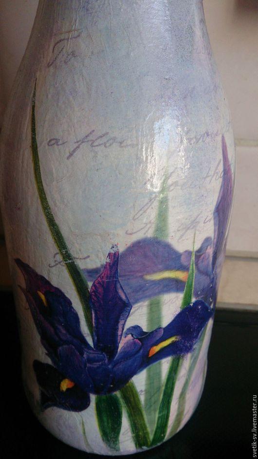 """Вазы ручной работы. Ярмарка Мастеров - ручная работа. Купить Ваза """"Ирис распустился"""". Handmade. Ваза, ваза для сухоцветов"""
