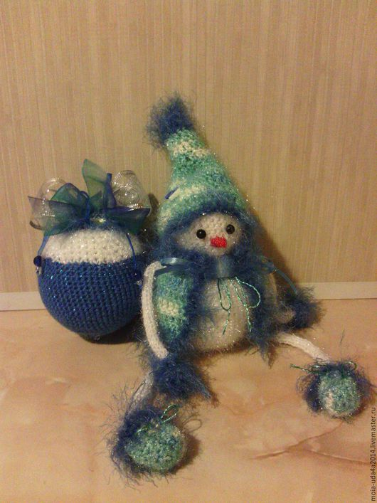 Новый год 2017 ручной работы. Ярмарка Мастеров - ручная работа. Купить Снеговик. Handmade. Подарок на новый год, новогодний сувенир, синий