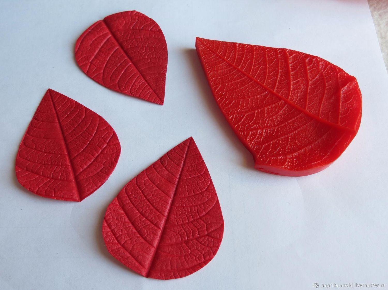 Молд для фоамирана лист пуансеттии, Молды, Бийск,  Фото №1