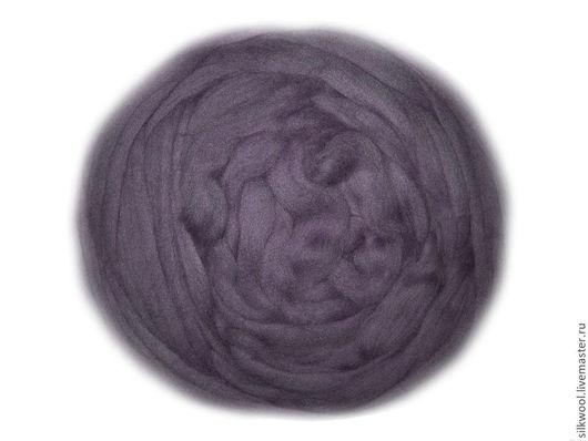 """Валяние ручной работы. Ярмарка Мастеров - ручная работа. Купить 100 г Цвет """"Тёмно-серый"""". Троицкая тонкая шерсть мериноса. Handmade."""