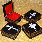 Для дома и интерьера ручной работы. Ярмарка Мастеров - ручная работа шкатулки для украшений Балет. Handmade.