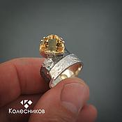 Украшения handmade. Livemaster - original item Ring silver Trillion (silver, citrine). Handmade.