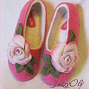 """Обувь ручной работы. Ярмарка Мастеров - ручная работа По мотивам """"Тапочек для лучшей подруги"""". Handmade."""