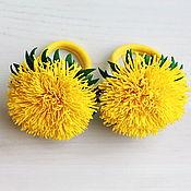 Работы для детей, ручной работы. Ярмарка Мастеров - ручная работа Резинки для волос с одуванчиками. Handmade.