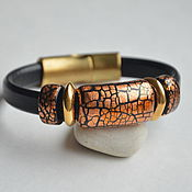 Украшения handmade. Livemaster - original item Women`s leather bracelet Regaliz