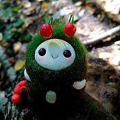 """Войлочная игрушка ручной работы. Ярмарка Мастеров - ручная работа Войлочная игрушка: Лесной волшебник """"Защитник ягод"""". Handmade."""